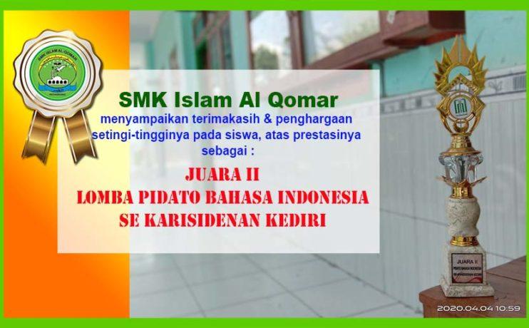 juara 2 pidato bahasa indonesia sekarisedenan kediri